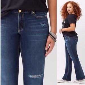 Lane Bryant plus Size Destructed Bootcut Jeans